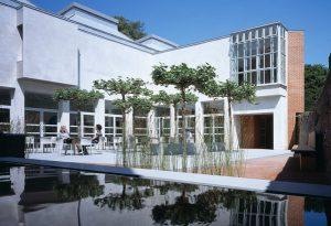 best architecture in Chichester Pallant House courtyard